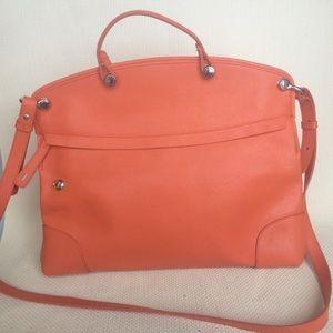 FURLA || Piper Medium Leather Dome Bag OS Orange
